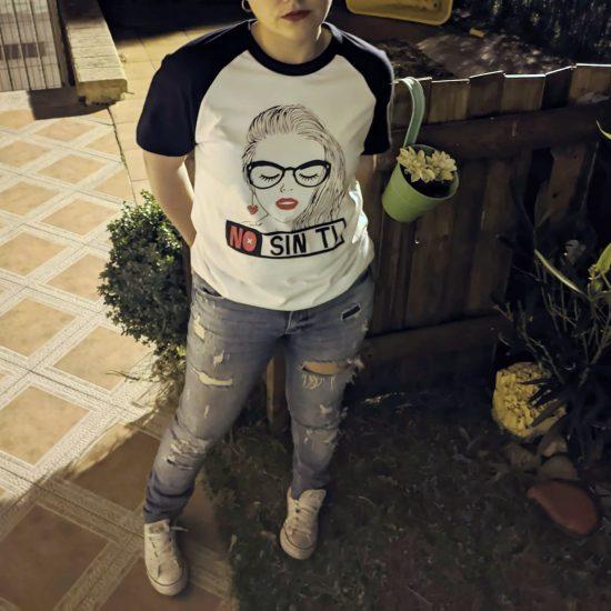 Camiseta No sin ti - Vuela Raso